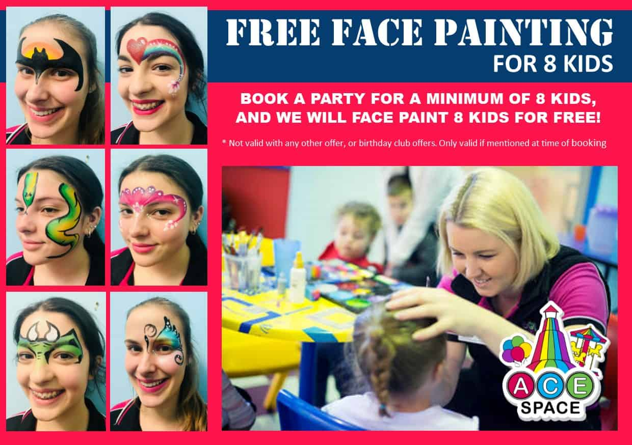 Face Painting Offer Jan 2019